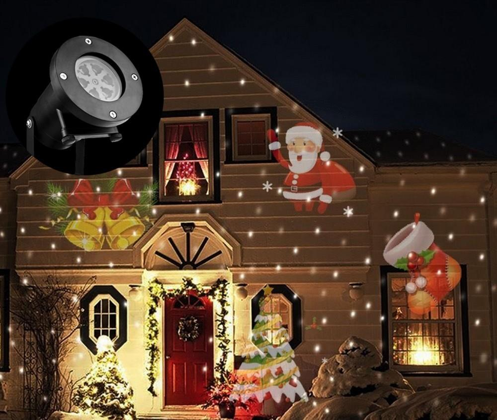 mini christmas laser snowman projector outdoor led moving landscape lamp waterproof disco lights decorations for home professional stage lighting moving - Professional Outdoor Christmas Decorations