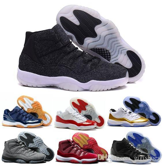 New 11 Basketball Shoes Men Women Cap And Gown XI Gym Red Navy PRM Heiress  Bred Gamma Legend University Blue Concord Sports Sneaker Toddler Gym Shoes  Kids ... 4d9861618dbc