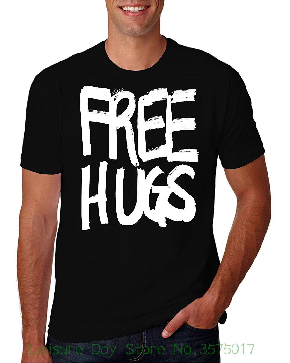6c85b19455 Fashion Tshirt Hipster Cool Tops Adult Free Hugs Love Funny Novelty Parody T  Shirt Crazy Shirt Designs A Shirt A Day From Lijian56, $12.08| DHgate.Com