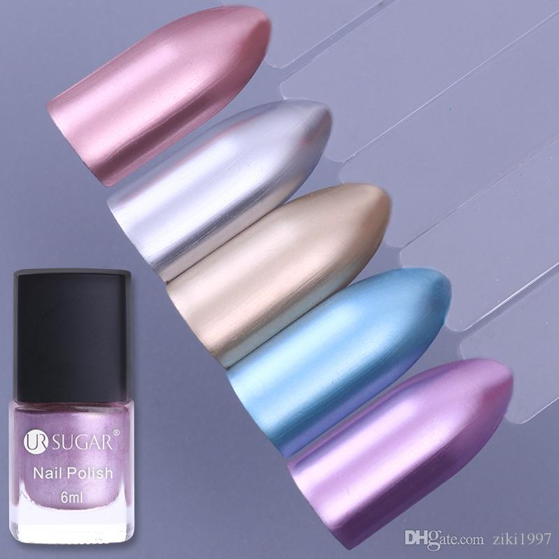 New Metallic Nail Lacquer Mirror Effect Gorgeous Metal Polish 1bottle Pink Silver Blue Gold Varnishvarnish Rimmel Crackle From