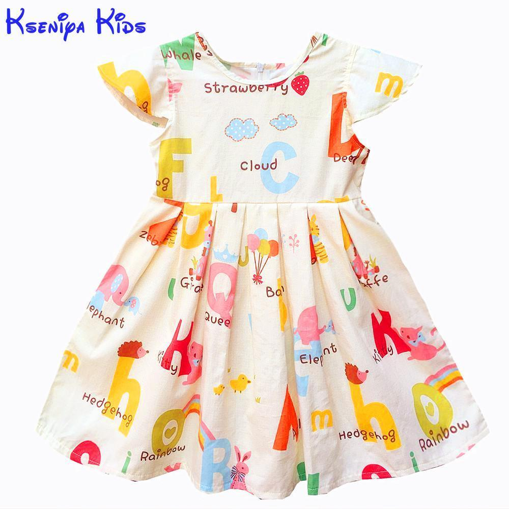4bc103728bb8 2019 Kseniya Kids Baby Girls Clothes Baby Girl Summer Princess Party Cute  Cotton Dress Kids Dresses For Girls Flower Girl Dresses Y1892112 From  Shenping01, ...