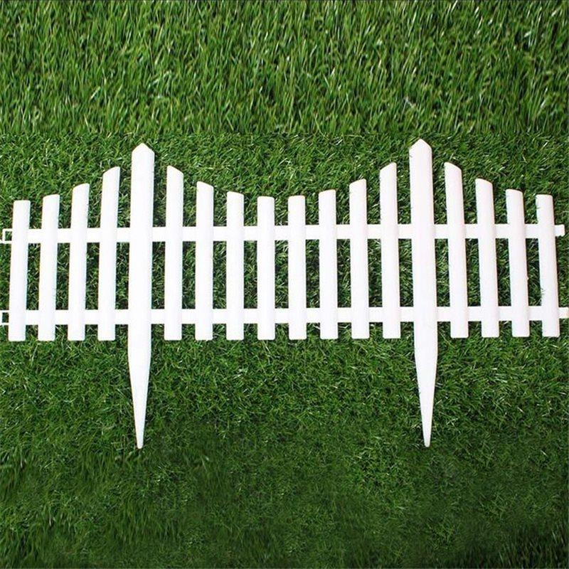 5 stücke Kunststoff Gartenzaun Einfach Montieren Weiß Europäischen Stil  Einfügen Boden Typ Kunststoff Zäune Für Garten Landyard Decor