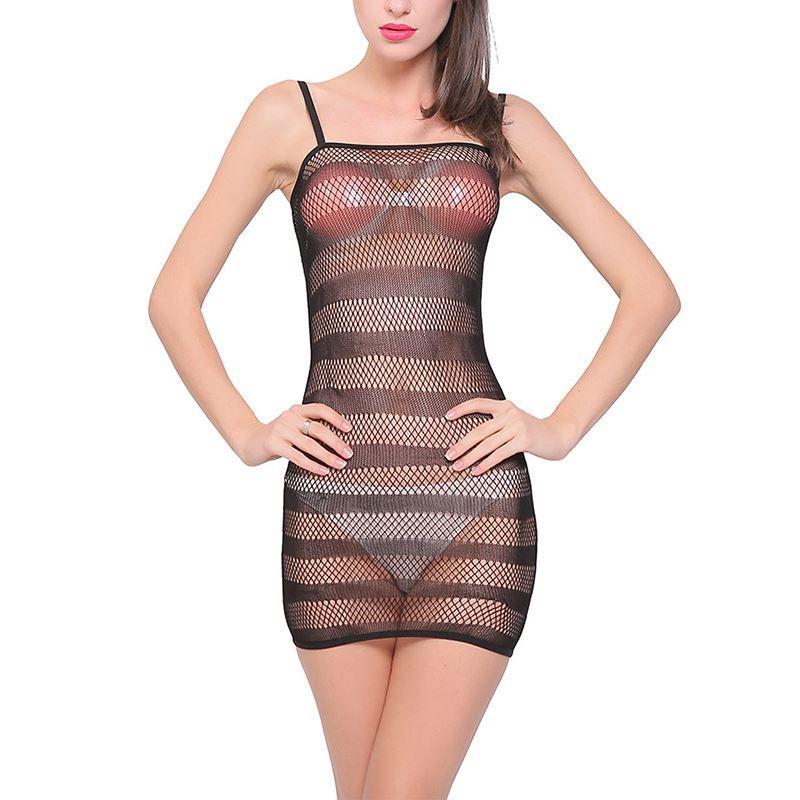 Female Erotic Sexy Costumes Lingerie Net Nightie Nightdress ... 3b7a908dc