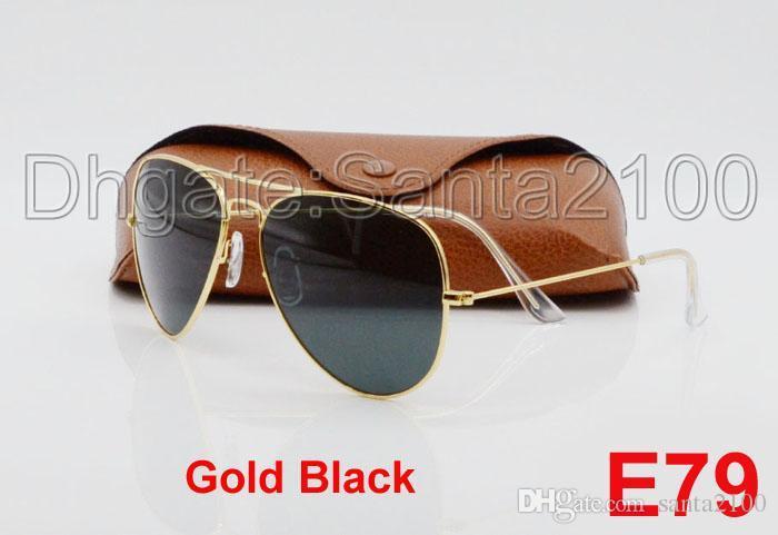 e1ec57edc5 High Quality Classic Pilot Sunglasses Designer Brand Mens Womens Sun  Glasses Eyewear Gold Metal Green 58mm 62mm Glass Lenses Brown Case Eyewear  Designer ...