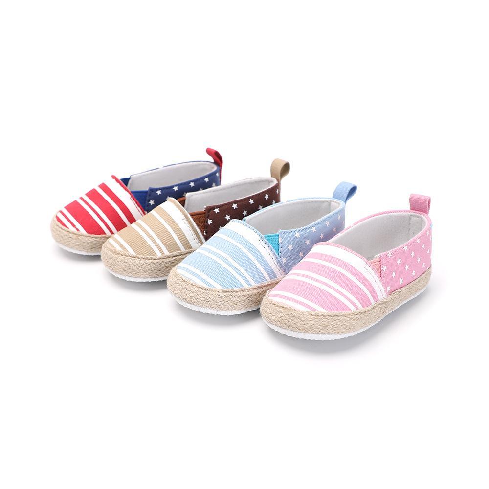 Toddler Newborn Baby Boy Girl Slip-On Loafers Canvas Sneaker Soft Sole Prewalker ruGWgX5