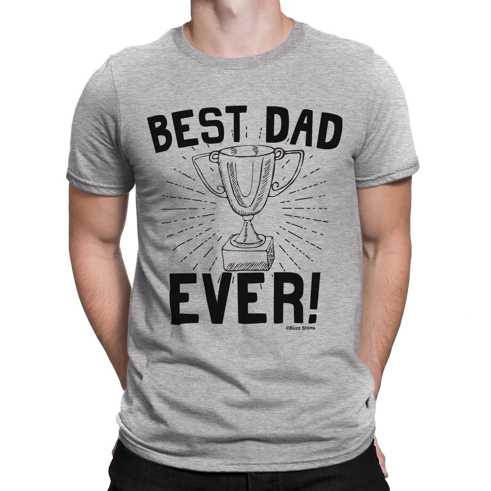 e360c995 Best Dad Ever Trophy Mens T Shirt Funny Gift Birthday Fathers Day Daddy  High Quality Custom Printed Tops Hipster Tees T Shirt Fun Tee Shirt Shop  Online T ...
