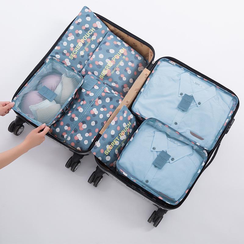 27d0187ffb Compre Sacos De Viagem Com Zíper Saco Da Bagagem Para Roupas Underwear  Meias Sapatos Mala Saco Multi Função De Embalagem Bolsa De Viagem Sacos De  Croftte