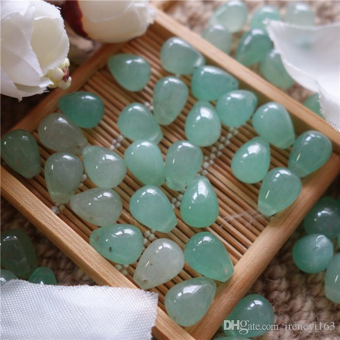 Cheap Price Natural Gemstones Green Aventurine Drop Shape 9*12mm Loose Beads For Jewelry DIY Earrings Necklace Bracelet
