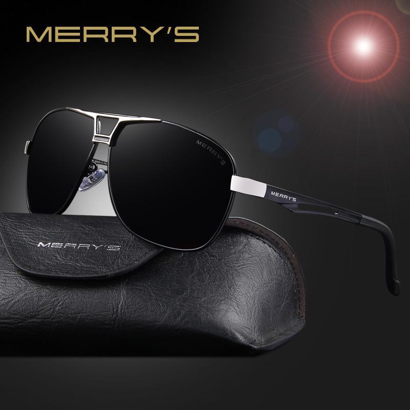 cb29059164 Compre MERRY'S Classic Para Hombre Gafas De Sol Rectangulares Polarizadas  Hombres HD De Aluminio Polarizado De Conducción De Moda Gafas De Sol S'8758  ...