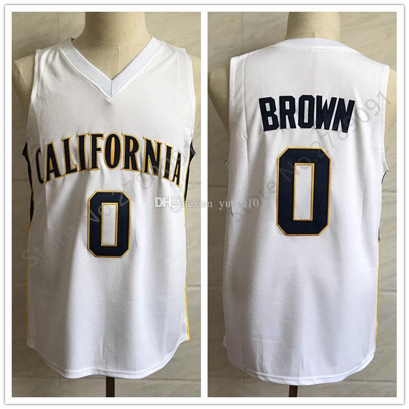 8ecfb6a5dee 0 Jaylen Brown California College Retro Classic Basketball Jersey ...