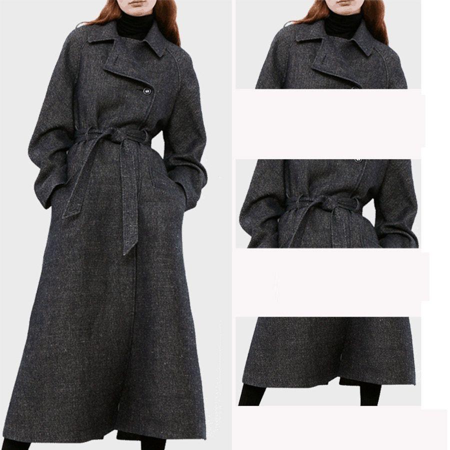 0741db1ee44 2018 Winter New Long Woolen Coat Dress Fashion Women Winter Jacket ...