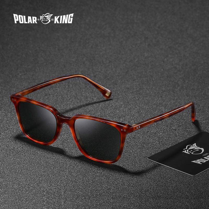 5116b7203c1a6f POLARKING Brand Classic Square Polarized Sunglasses For Men Travel ...
