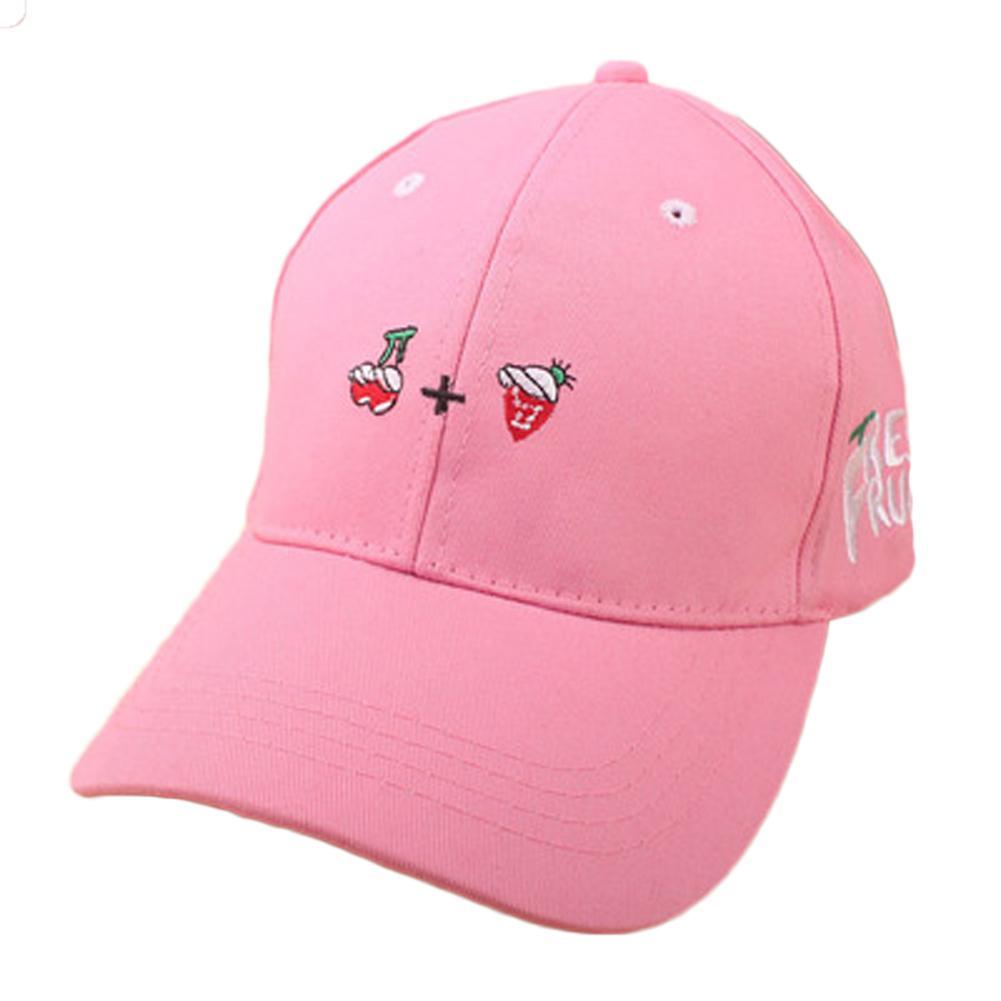 10196d44bff New Spring Leisure Fresh Fruit Embroidery Hat Strawberry Banana Cherry  Orange Peach Baseball Cap For Mom Hat And Girl S Hats For Men Hatland From  Ekkk