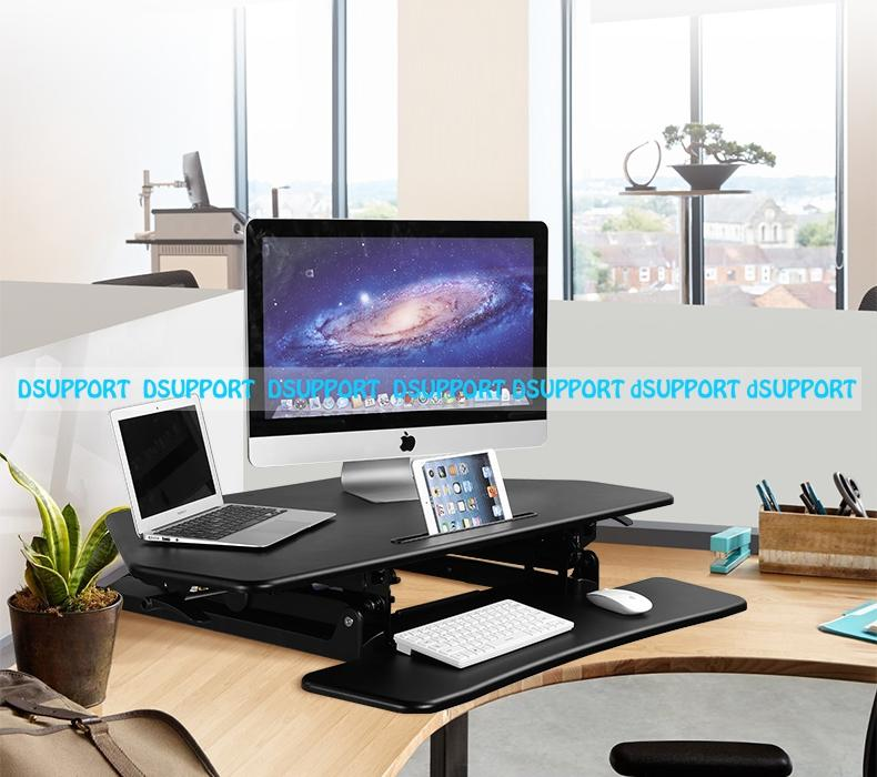 2018 Loctek M2 Cornored Height Adjule Sit Stand Desk Riser Foldable Laptop Notebook Monitor Holder With Keyboard Tray From Doper