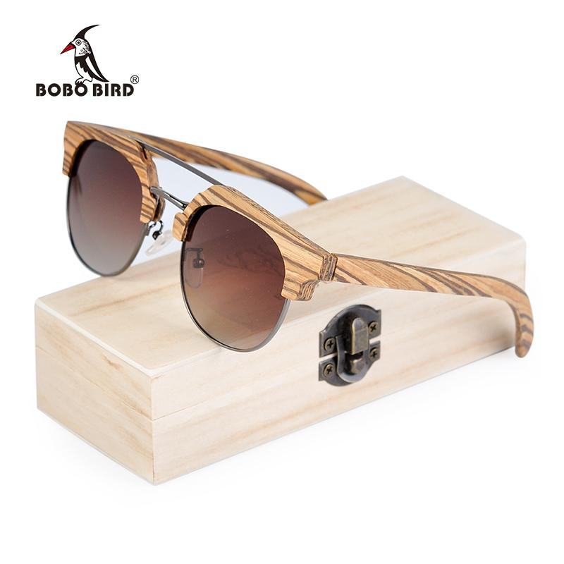 a0d09b0a68a Wholesale Zebrawood Wood Sun Glasses Women Polarized Retro Vintage Glasses  UV400 Occhiali Sole Rotondi Online with  80.42 Piece on Mingring001 s Store  ...