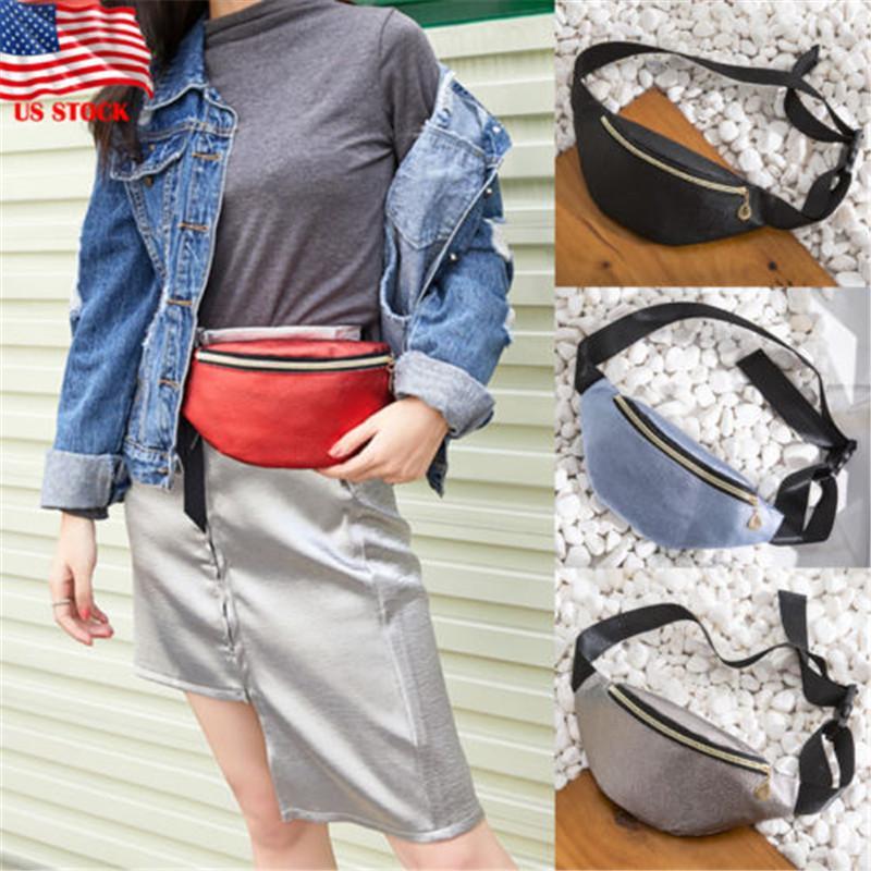 a1ea08c426a New Fashion Waist Fanny Pack Women PU Leather Belt Zipper Waist Bag Chest  Tote Casual Pack