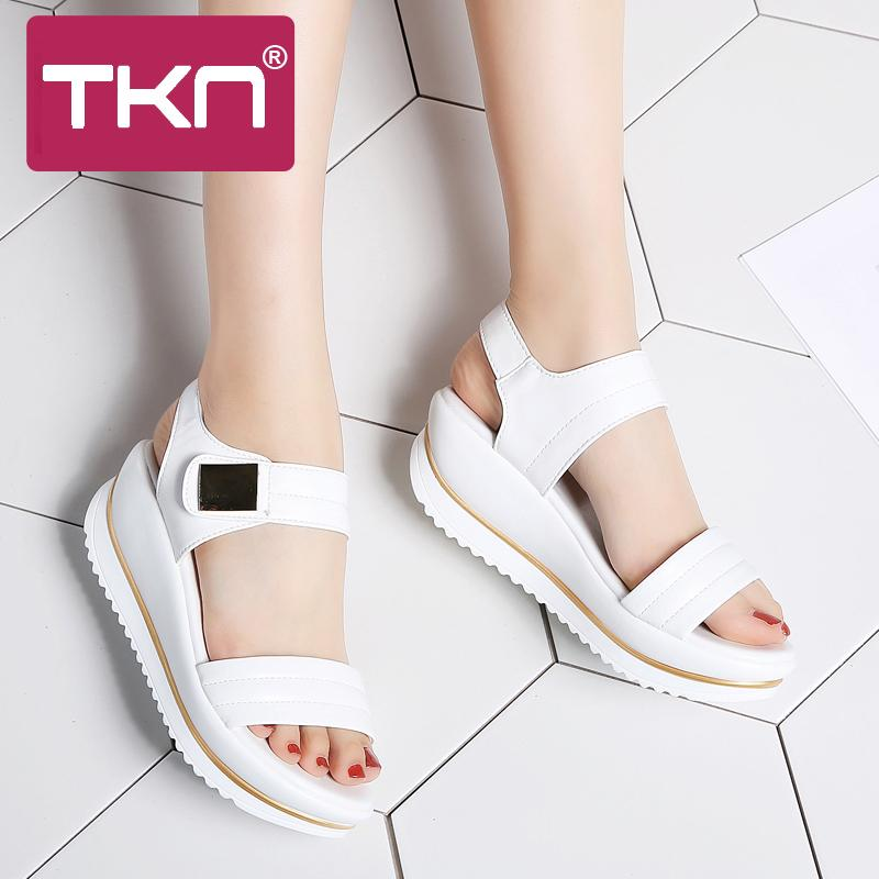 987c87d7f Wholesale 2018 Summer Women Flat Platform Sandals Shoes Women Comfort  Sandalias Ladies White Wedge Sandals Shoes Woman Sandalie 825 Sandles Wedge  Booties ...