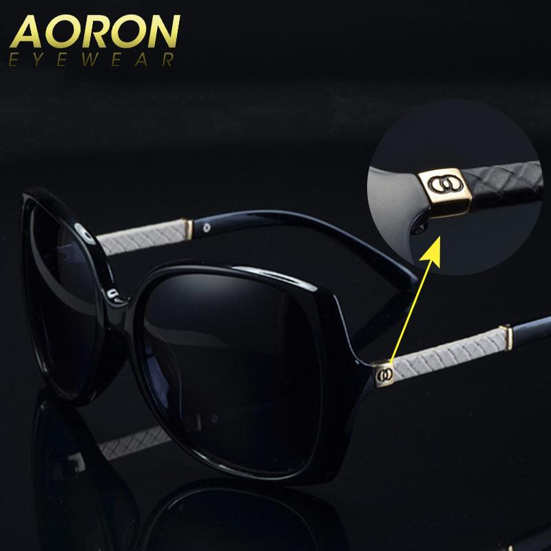 63c9facd445e Luxury Brand Aoron Women Polarized UV400 Sunglasses For Women Vintage Glass  Female Original Famous Sun Glasses With Logo C 9110 Prescription Sunglasses  ...