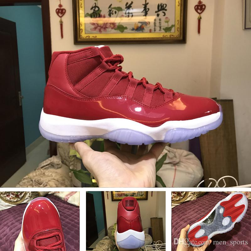 2018 Quality 11 XI Gym Red Chicago Prom Night Platinum Tint Men Basketball  Shoes 11s Mens 378037 623 Sport Sneakers 41 47 Barkley Shoes Shoes Jordans  From ... a800ff882
