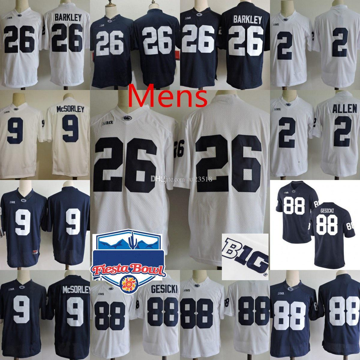 the latest 0c824 0c5f1 Mens Penn State Nittany Lions Marcus Allen College Football Jerseys NCAA 26  Saquon Barkley 9 TRACE McSORLEY 88 Mike Gesicki PSU Lions Jersey