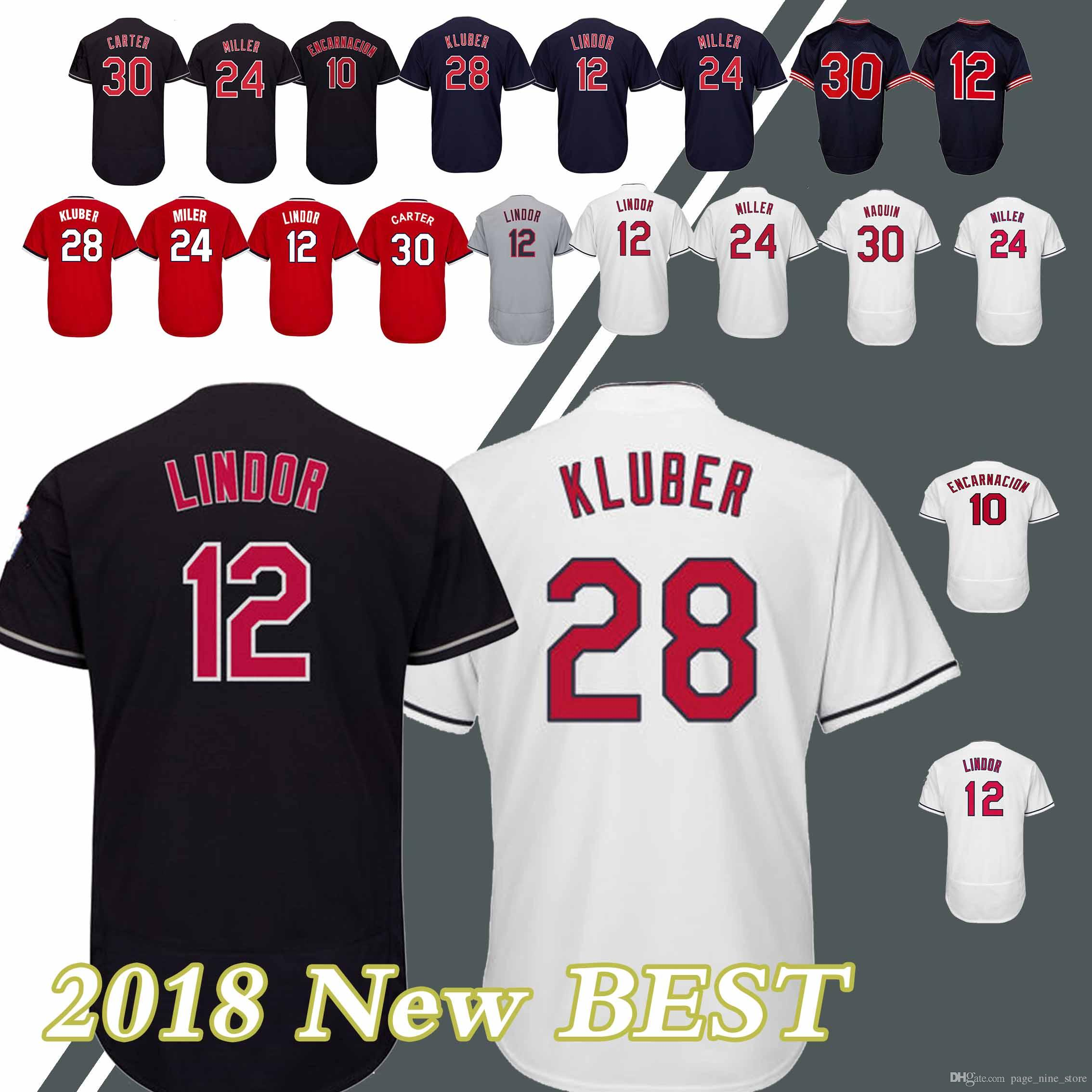 brand new abf78 c7c7c Cleveland indians jerseys 10 Edwin Encarnacion 30 Joe Carter Hot sale  high-quality 2018 new Jersey sportswear