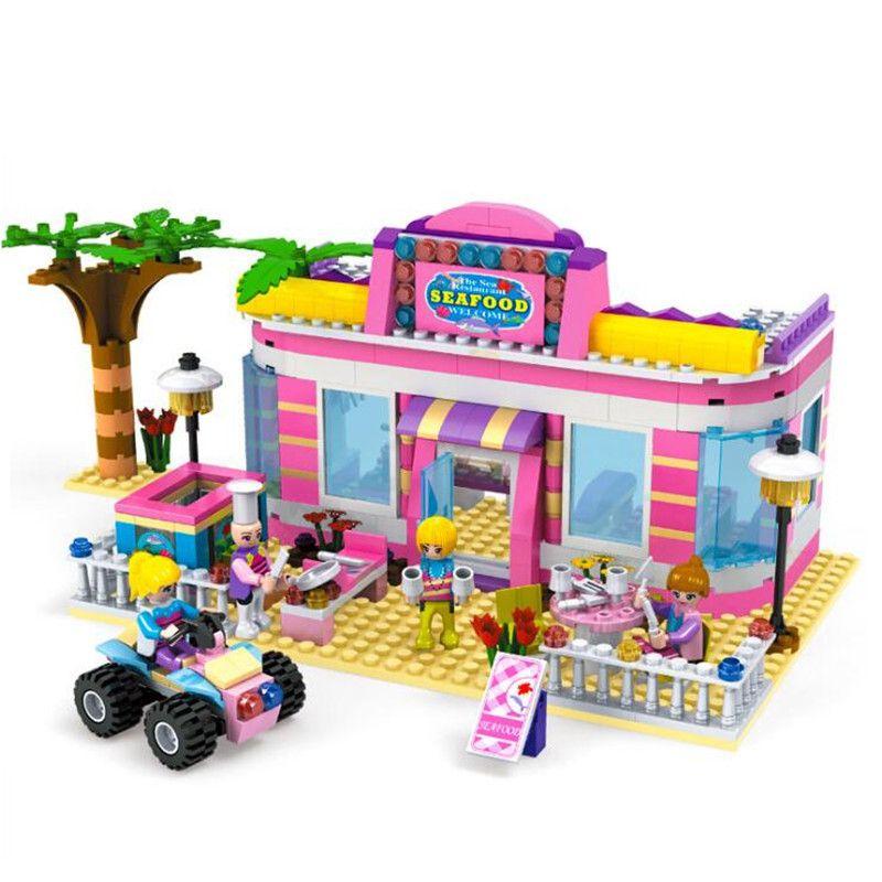 Legoings Girl Beach Restaurant Building Blocks Kit Toys Kids Birthday Christmas Gifts Best For 5 Year Old Online From