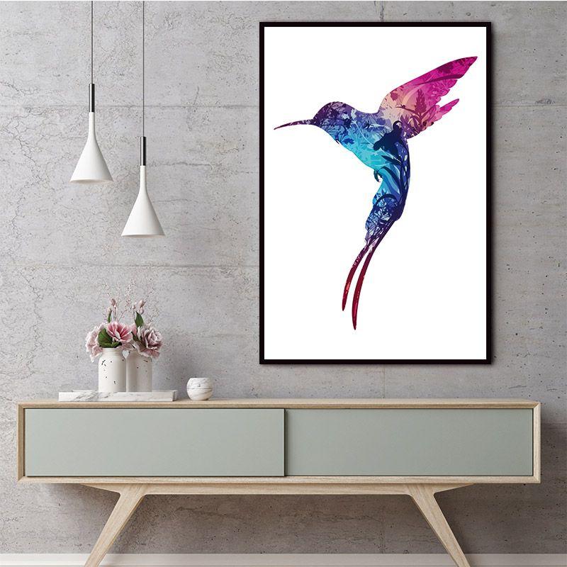 Satın Al Tuval Boyama Kuş Doğal Nordic Posteri Soyut Duvar Resimleri