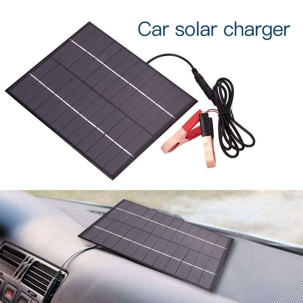 BUHESHUI المحمولة 12V 5.5W لوحة للطاقة الشمسية بنك الطاقة DIY شاحن البطارية الشمسية الخارجية للسيارة ث / مقاطع التمساح