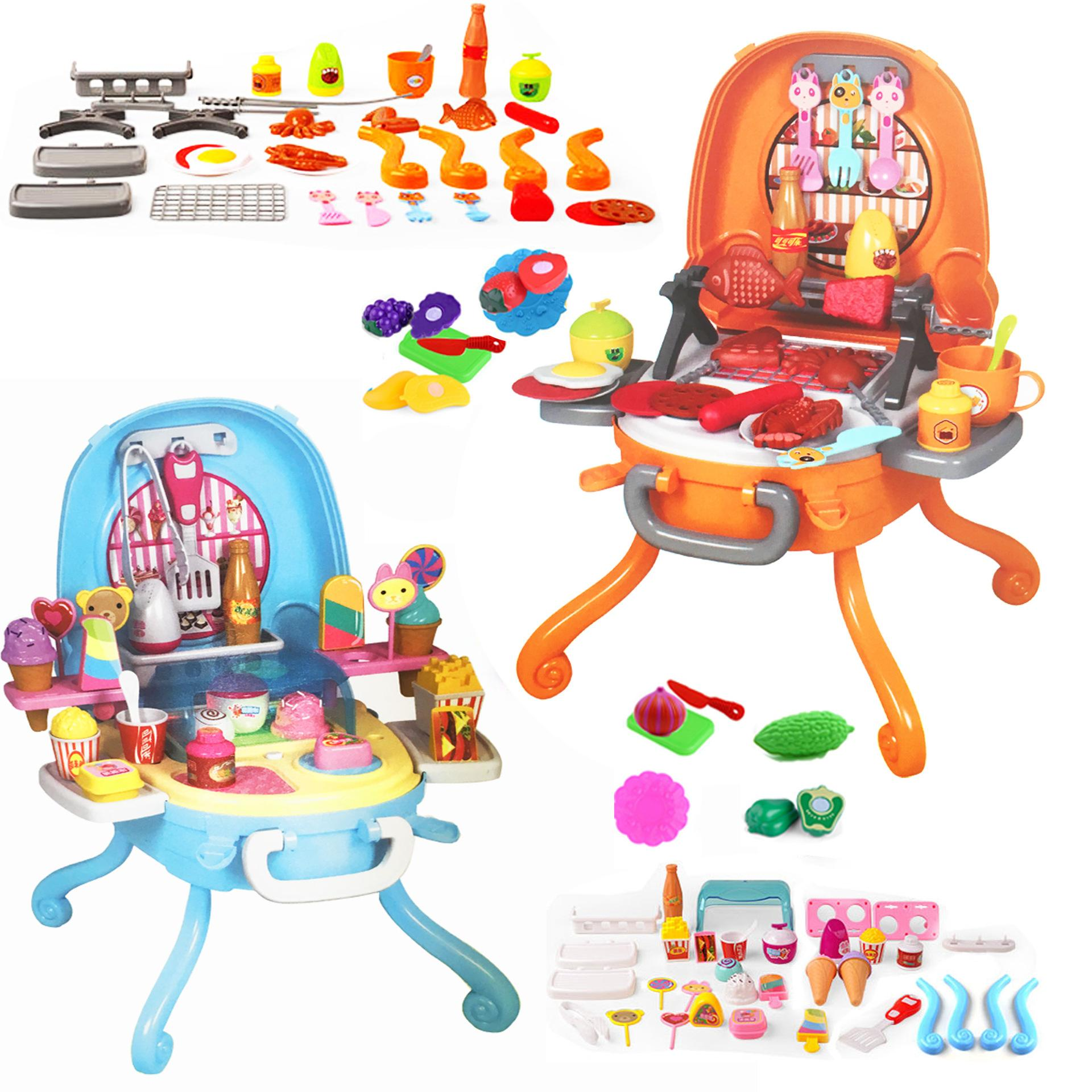 2018 Children Pretend Play Ice Cream Bbq Kitchen Set Kids Toys Simulated  Food Dessert Table Fashion Girls Birthday Gift From Baby_sky, $31.61 |  Dhgate.Com