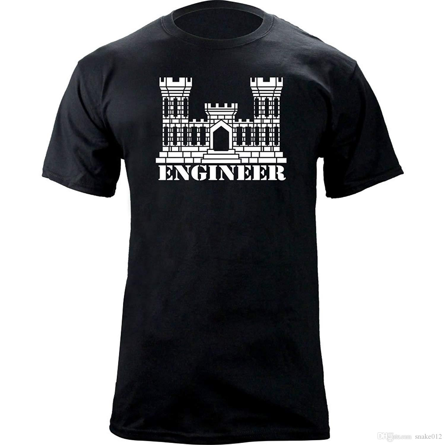 910fe28b08a7 Army Engineer Branch Insignia Castle Veteran Graphic T-Shirt Men S ...