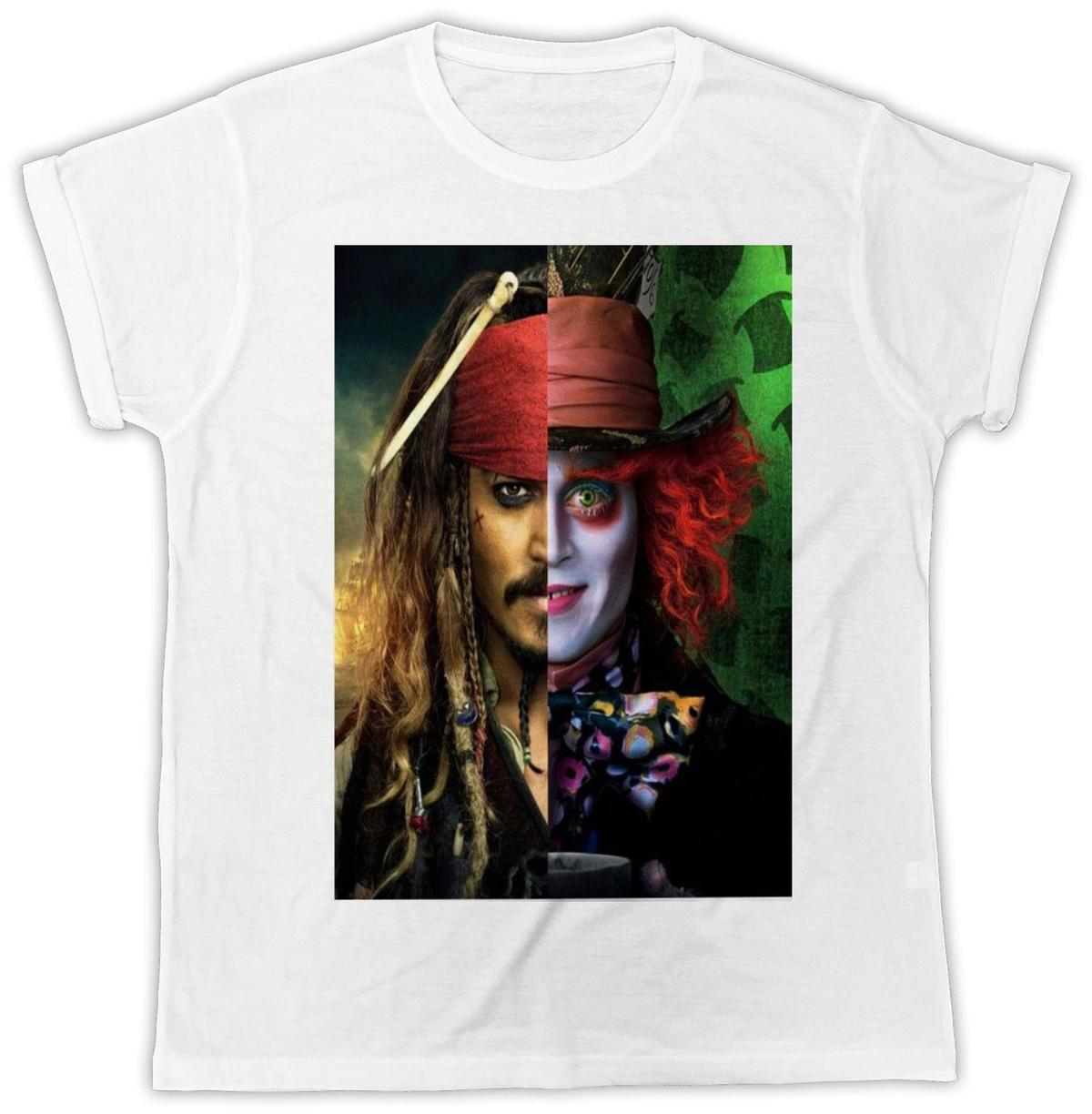 JOHNNY DEPP JACK SPARROW MAD HATTER IDEAL GIFT RETRO UNISEX FASHION TSHIRT 2859 Men'S High Quality Custom Printed Tops Hipster Tees