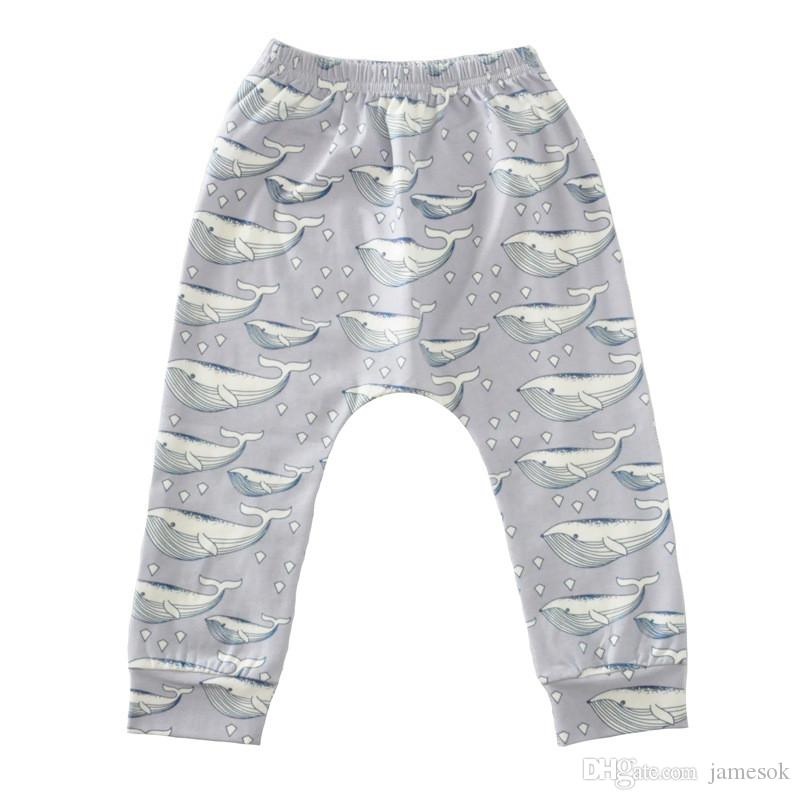 8 Style kids INS pp pants baby toddlers New boys girls fox Animal dinosaur geometric figure flamingo penguin trousers Leggings TO533