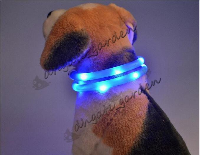newest Cut USB Charge Dog Training Collar LED Outdoor Luminous charger Pet Dog Collars light Adjustable LED flashing dog collar