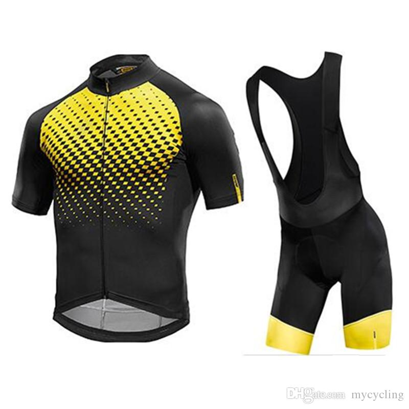 669fee0a1 Satın Al Mavic Bisiklet Jersey 2018 Bisiklet Giyim Yarış Spor Bisiklet  Jersey Üst BIB Şort Kısa Kollu Maillot Ropa Ciclismo 82212Y Giymek