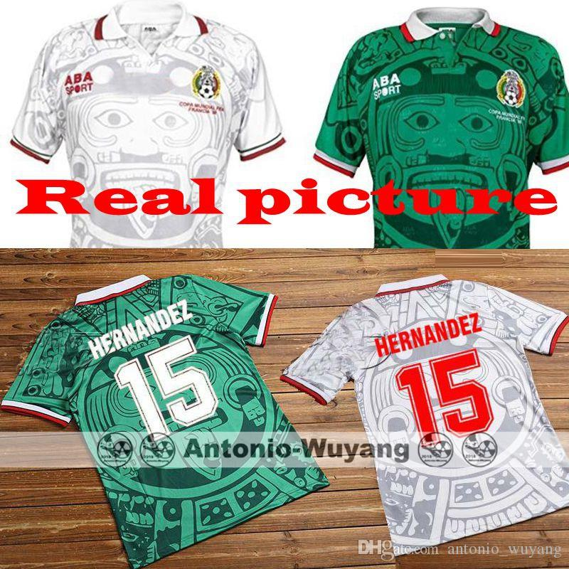 103f711be99 Top Best Quality 1998 Mexico Retro Jersey Home Away BLANCO 11 ...
