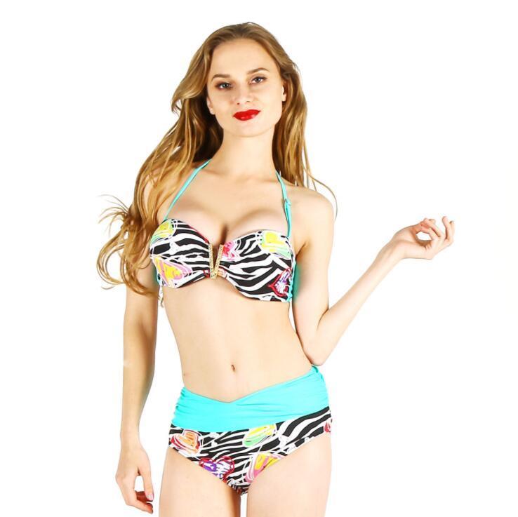 5e9d97998b92 2018 nuevas mujeres Bikinis Swimwear traje de baño Bikini cruzado Bikini  brasileño conjunto traje de baño Vintage Summer Beach Wear Italia tamaño ...