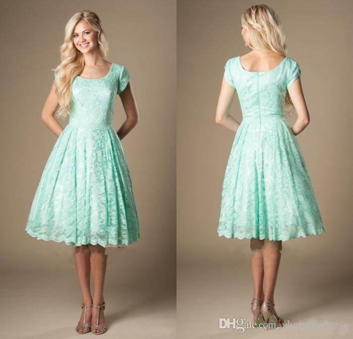 Vintage Turquoise Lace Bridesmaid Dresses