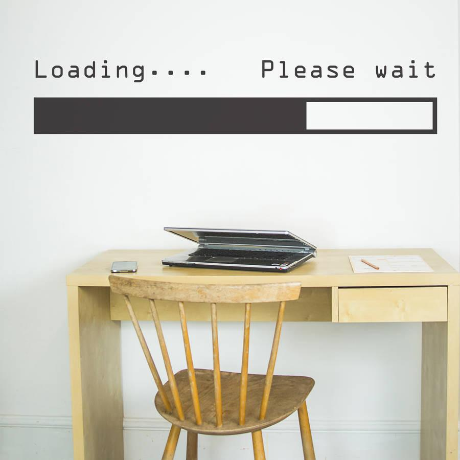 Loading...Please Wait Vinyl Wall Sticker Removable Art Room Decor Wall Decals Word Lettering Quote Bedroom Living Room ZA743