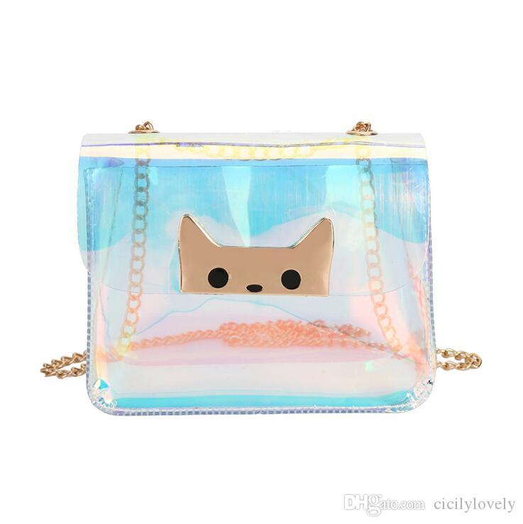 cfd1c5558795 Women Transparent Bag Clear Jelly Small Tote Messenger Bags Laser Holographic  Shoulder Bags Female Lady Messenger Bags Crossbody Bags From Cicilylovely