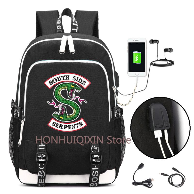 e6459144585101 Riverdale Backpack With USB Charging Port And Lock  Headphone Interface For  College Student Work Men   Women Laptop Bags For Women Shoulder Bags From  ...