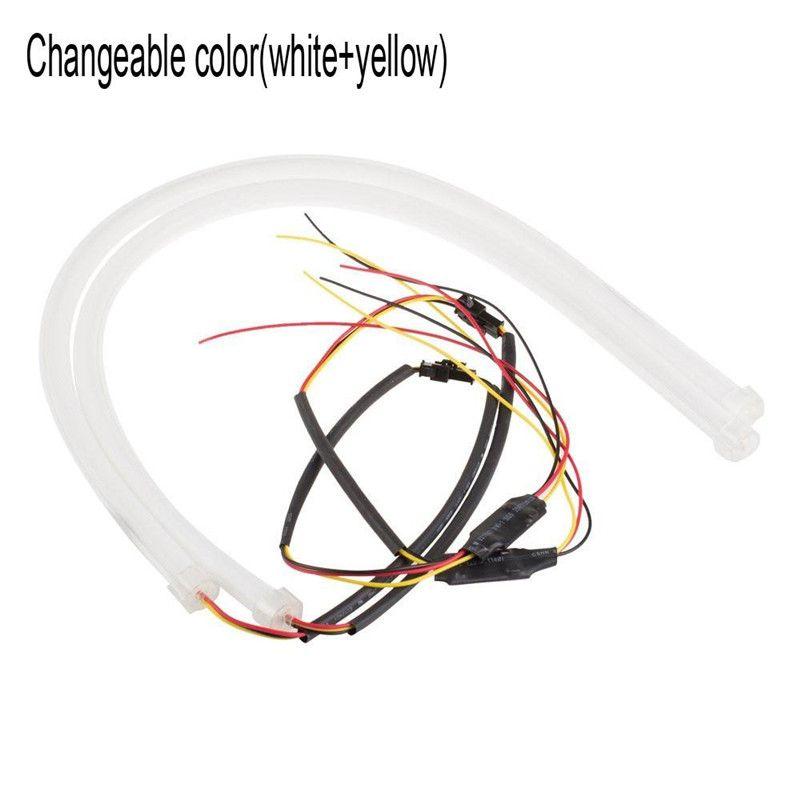 Usine 60 CM DRL Flexible LED Tube Feux de jour Feux de circulation Signal Ange Yeux Car Styling Stationnement Lampes
