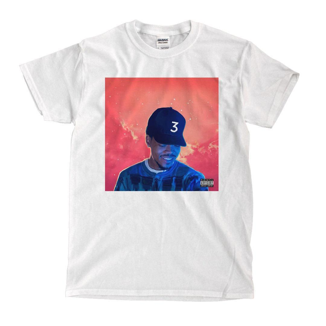 Chance The Rapper Coloring Book White T Shirt Printed T Shirt Men\'S ...