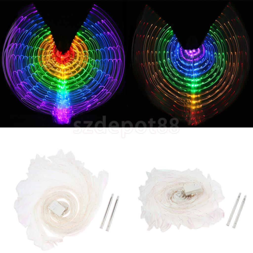 2018 Halloween Christmas Large Rainbow Luminous Butterfly Led Belly ...