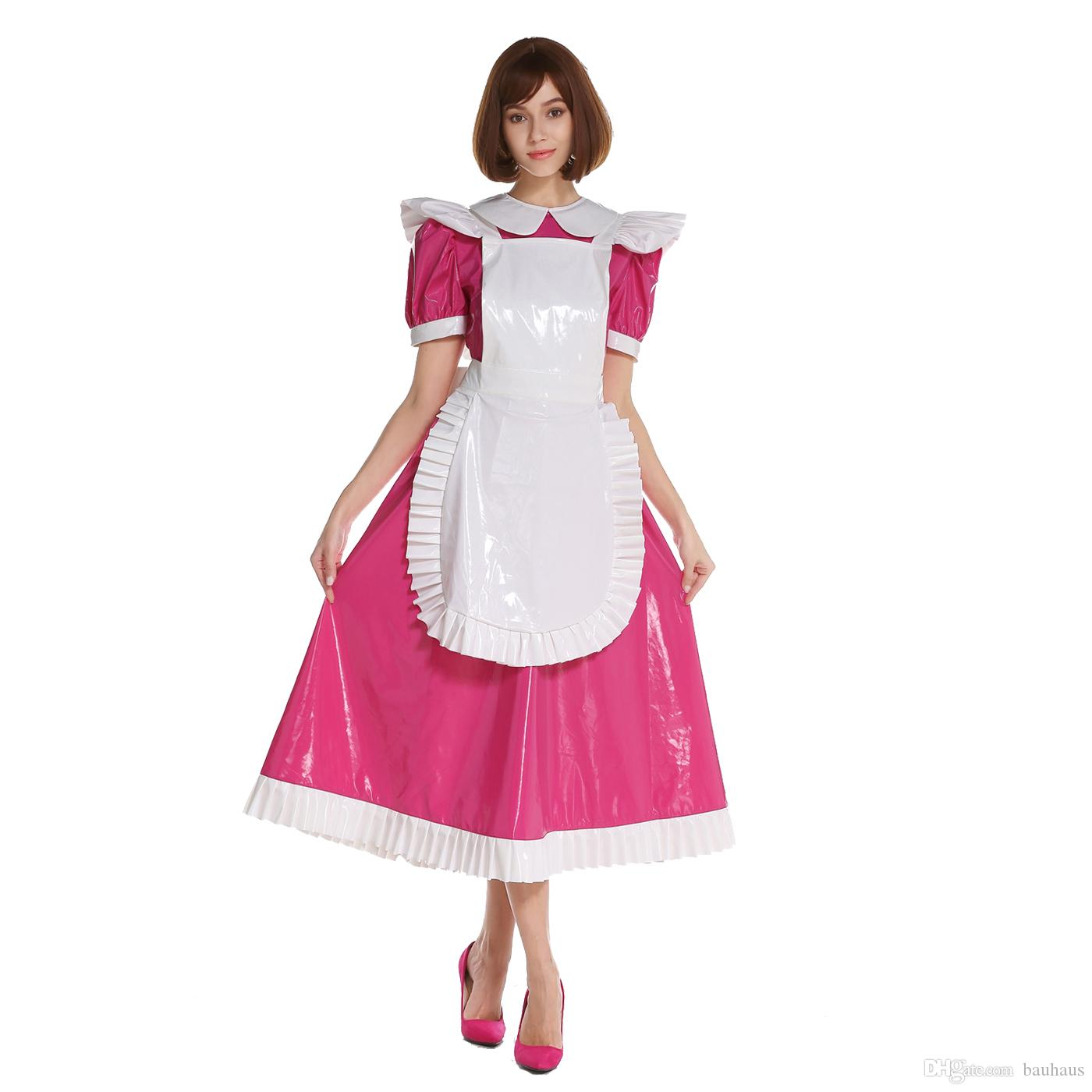 fc7da354e5 New Arrival Sissy Girl Maid Lockable Medium Length PVC Dress Uniform  Crossdresser Uniform Cosplay Costume Crossdressing Canada 2019 From  Bauhaus