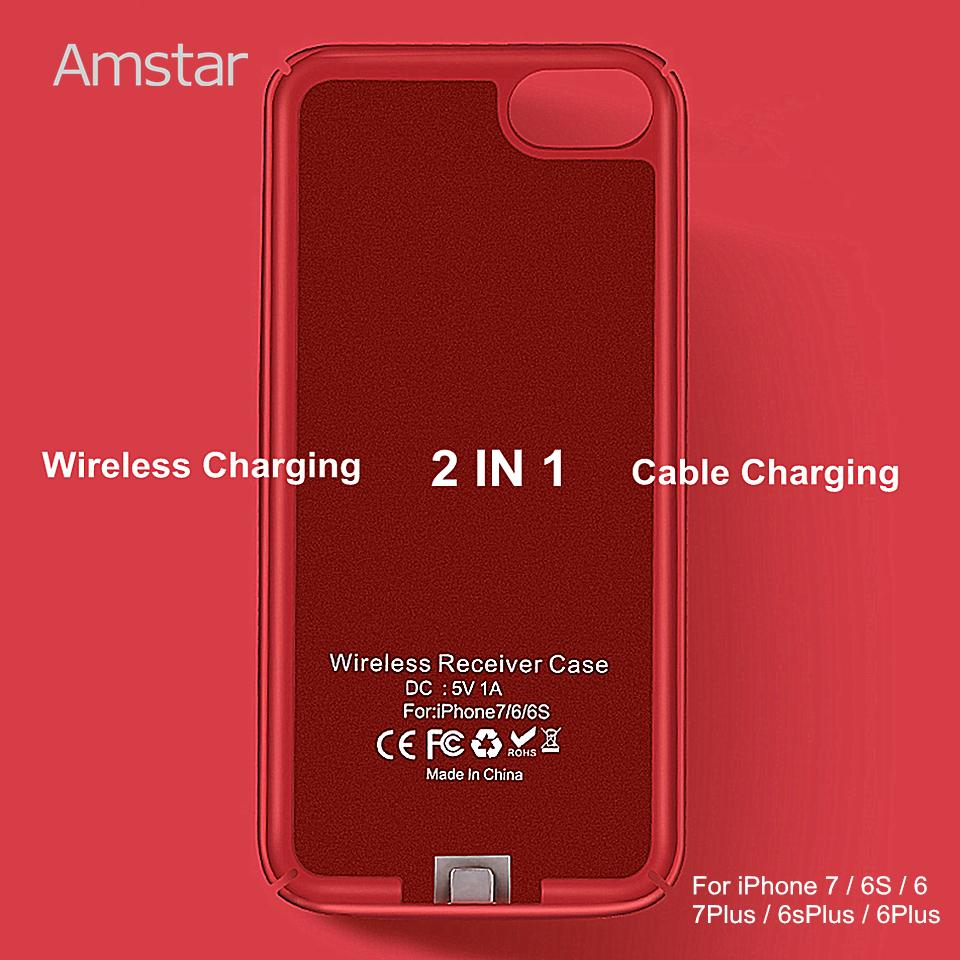 wholesale Wireless Charger Receiver Case Cover Qi Wireless Charging  Transmitter Cover Qi Receiver Phone Case for iphone 7 6S 6 Plus