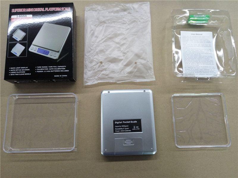 Escala de joyería digital portátil Balanza de bolsillo de precisión Básculas de peso Balanza de peso electrónico Mini LCD 500g 1000g 200g 3000g