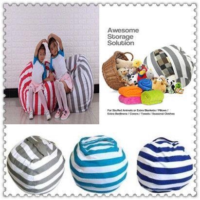 18inch Kids Storage Bean Bags Plush Toys Beanbag Chair Bedroom ... a2ab237a88519