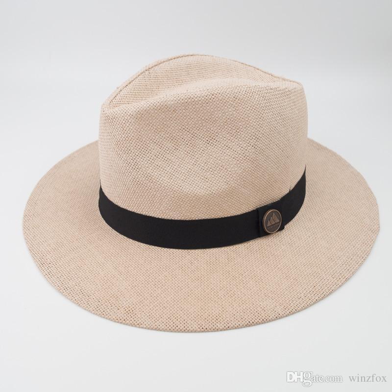 Acquista Cappello Panama In Carta Paglia Unisex Cappello Moda Fedora Alla  Moda Le Vacanze Estive In Spiaggia Cappello Stile Classico TOP E Vintage  EPU ... 52b650cc8353