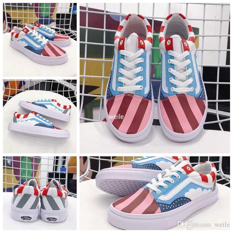 2018 New Piet Parra X Old Skool Canvas Casual Shoes Men Women ... 8d3944646