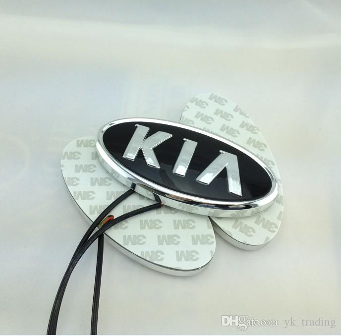 11.9 cm * 6.2 cm Voiture Emblème lumière pour kia k5 sorento âme forte cerato Badge Autocollant LED lumière 4D logo Emblèmes lumière